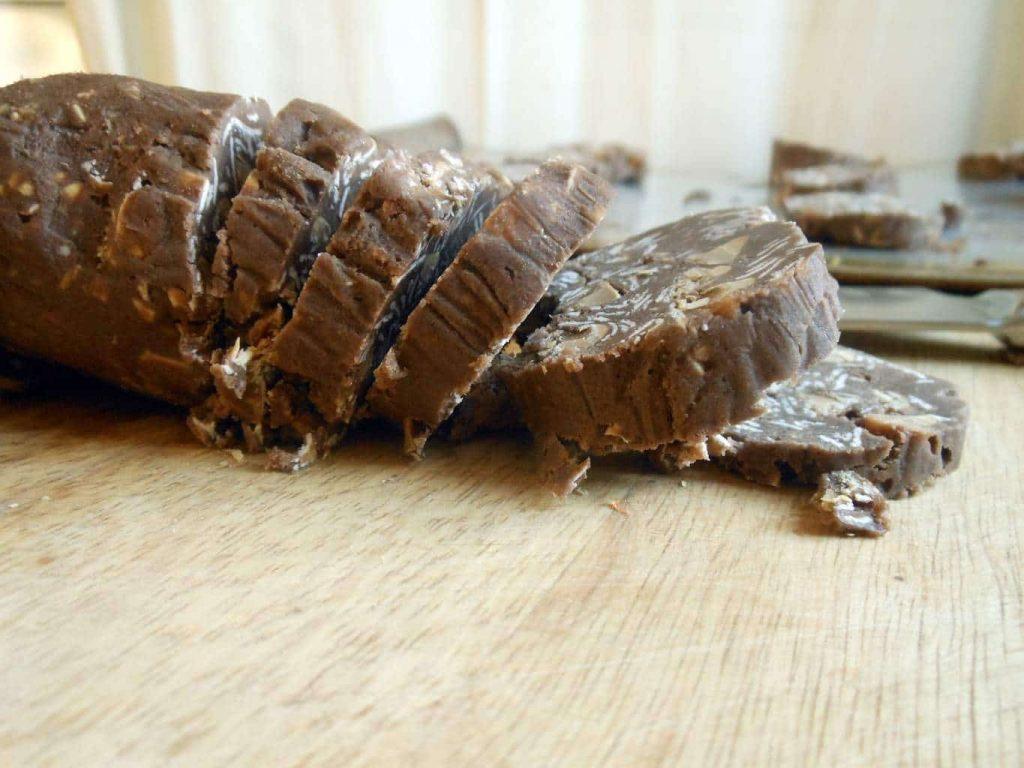 Slice-n-Bake Chocolate Peanut Butter Chip Oatmeal Cookies