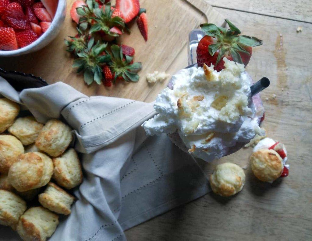 Strawberry Shortcake Milkshakes