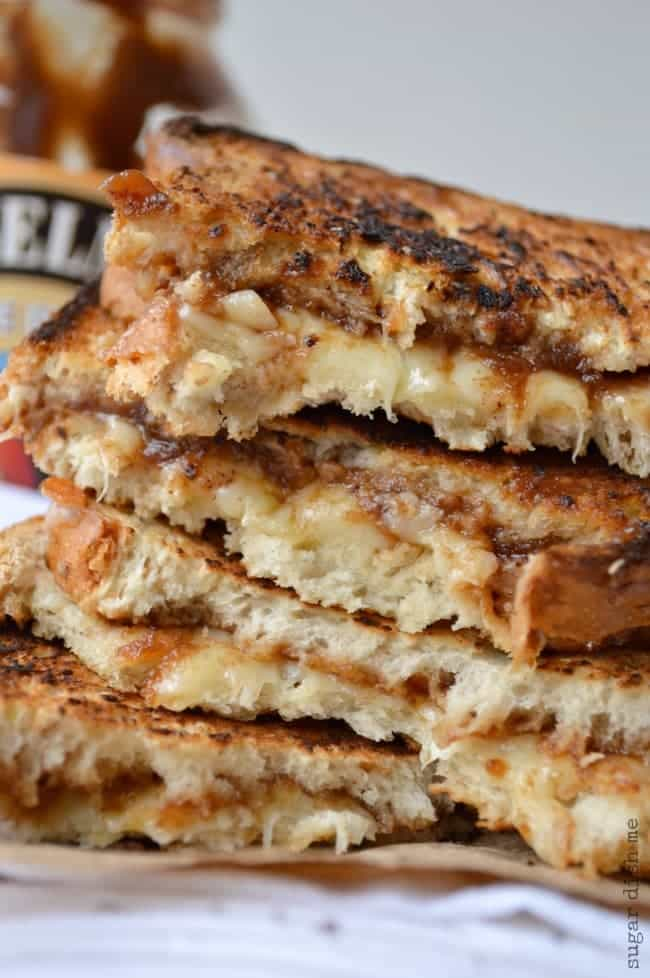 sweet appley spread starting with this apple butter grilled cheese
