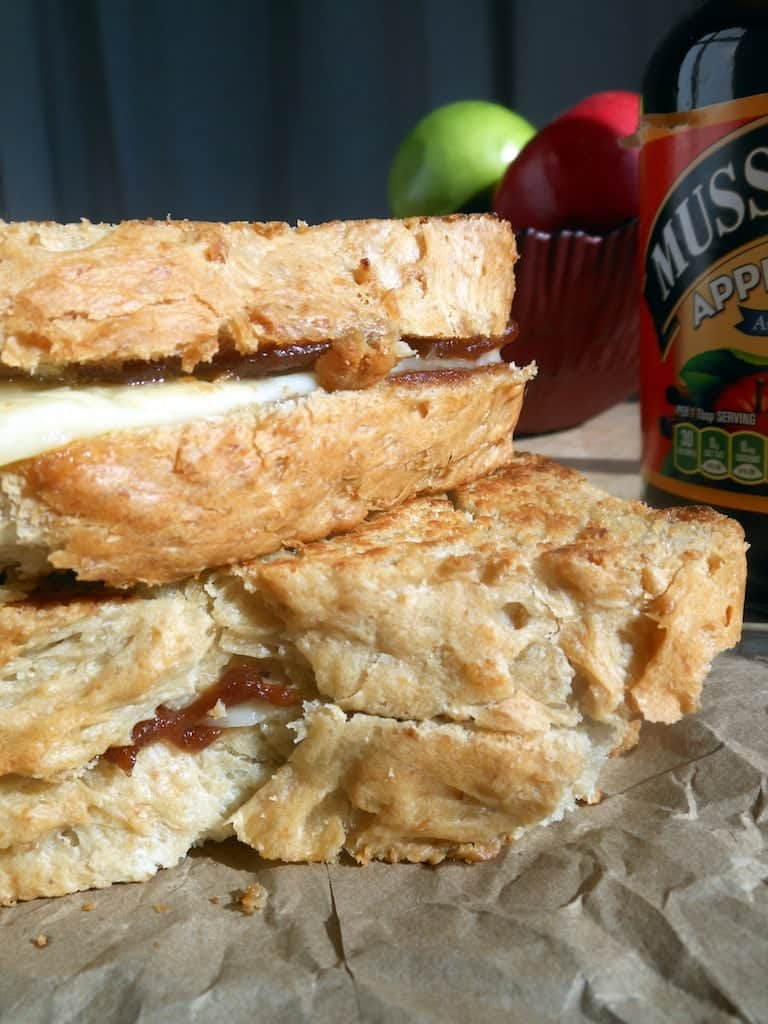 Apple Butter Grilled Cheese And A Musselman S Giveaway