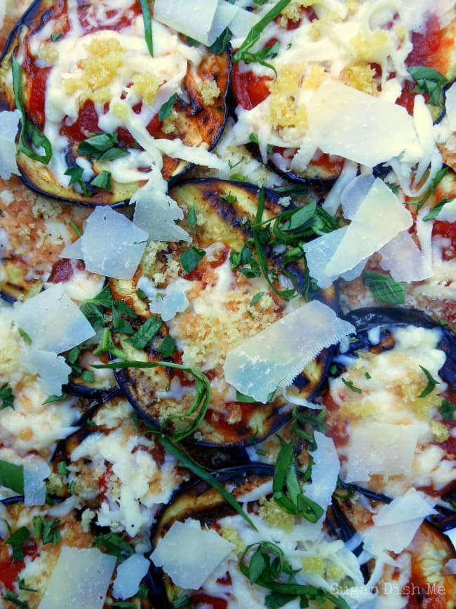Grilled Eggplant Parmesan - Sugar Dish Me