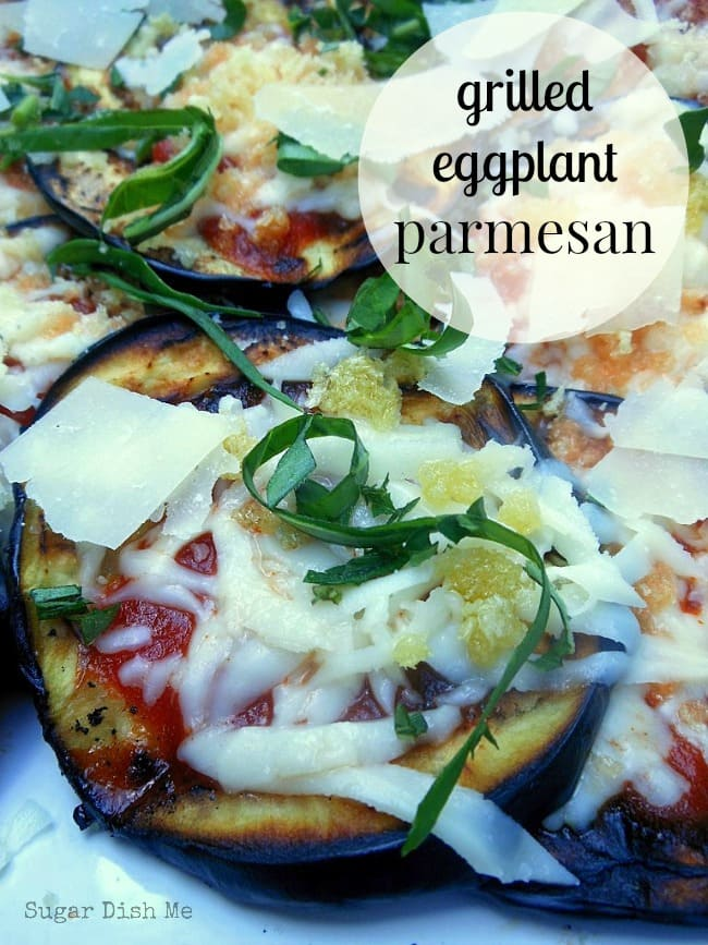 Grilled Eggplant Parmesan on www.sugardishme.com