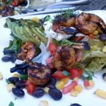 Grilled Romaine with Southwest Shrimp Salad
