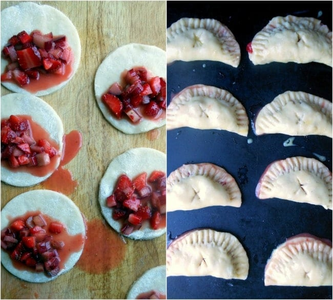 Making Strawberry Rhubarb Hand Pies