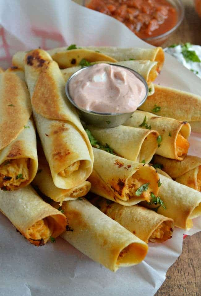 Chicken taquito Recipe with Peaches and Peppers