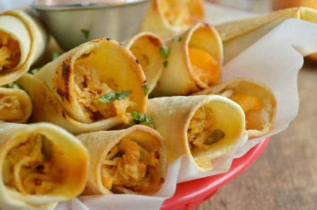 Peach and Chipotle Chicken Taquito Recipe