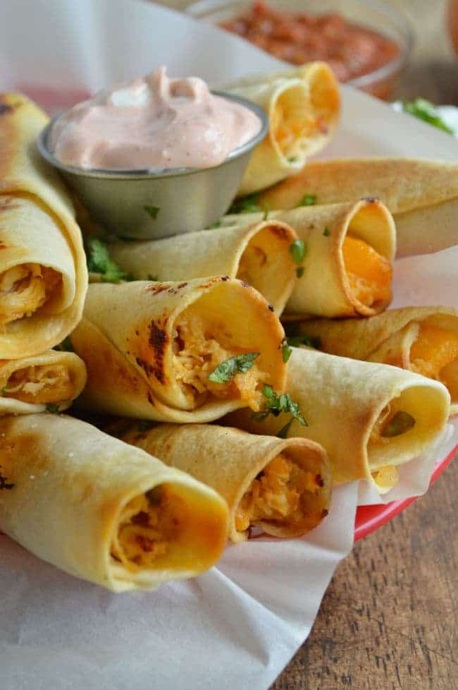 Baked Peach Chicken Taquitos Recipe