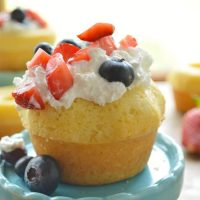 Little Red, White, and Blueberry Lemon Poundcakes