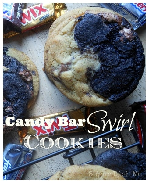 Candy Bar Swirl Cookies