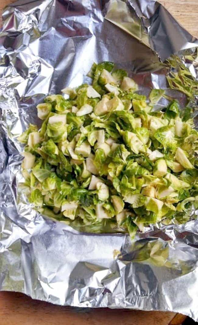 Chopped Brussels Sprouts for Grilling