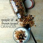 Maple and Brown Sugar Granola