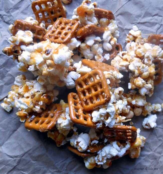 Homemade Caramel Pretzel Popcorn Recipe