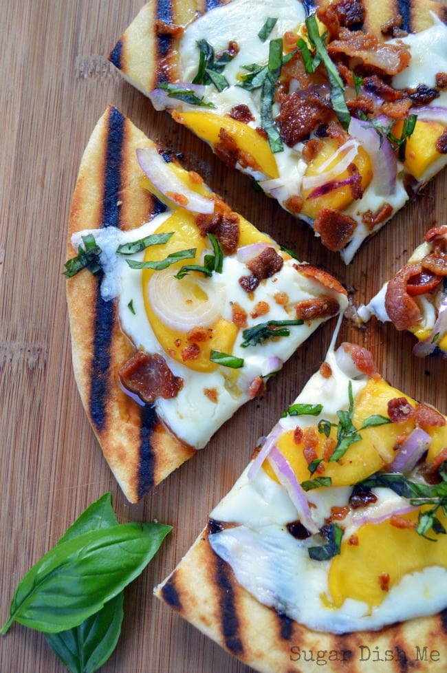 Grilled Flatbread Pizza with Peaches