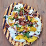 Grilled Peach and Bacon Pizza