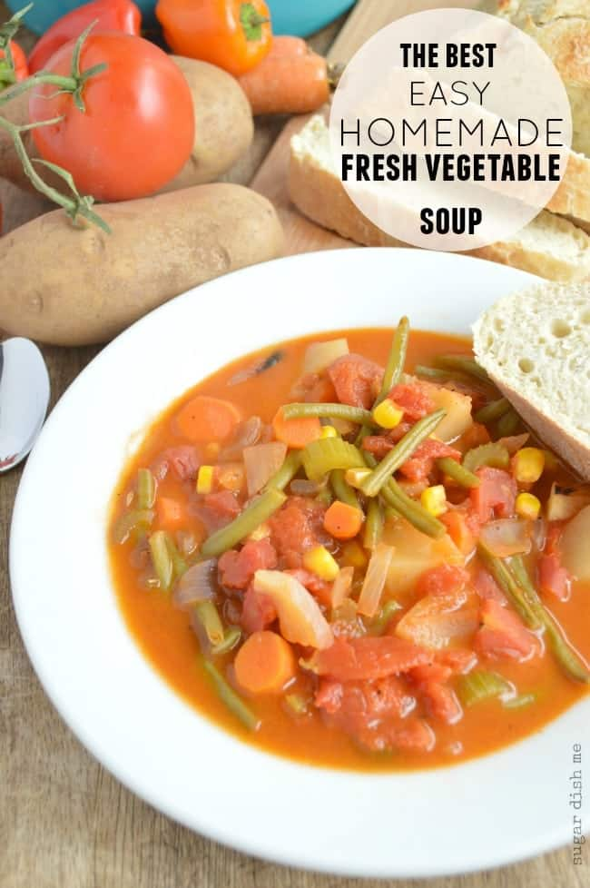 The Best Homemade Fresh Vegetable Soup