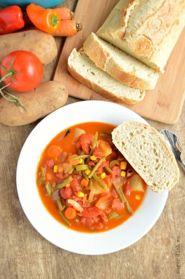 Homemade Fresh Vegetable Soup - Sugar Dish Me