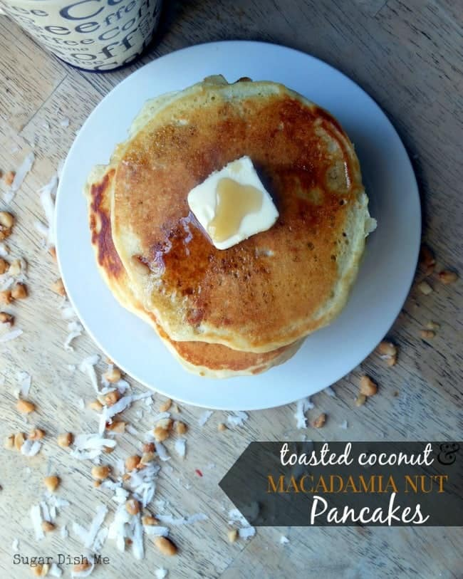 Toasted Coconut and Macadamia Nut Pancakes