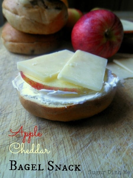 Apple Cheddar Bagel Snack