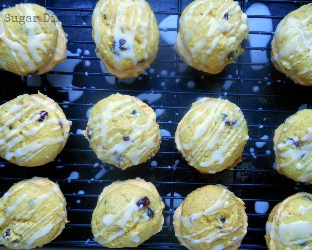 Autumn Spice Cake Mix Cookies with Pumpkin Buttercream