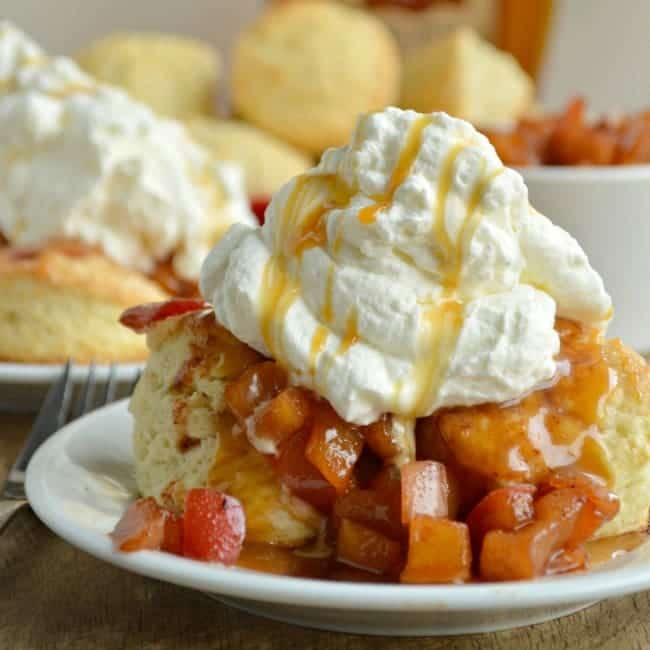 Bourbon caramel Apple Shortcakes Recipe