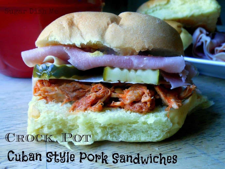 Crock Pot Cuban Style Pork Sandwiches - Sugar Dish Me