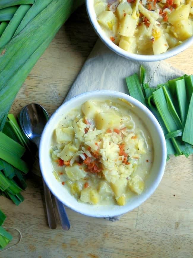 Potato Leek Soup with Bacon Recipe