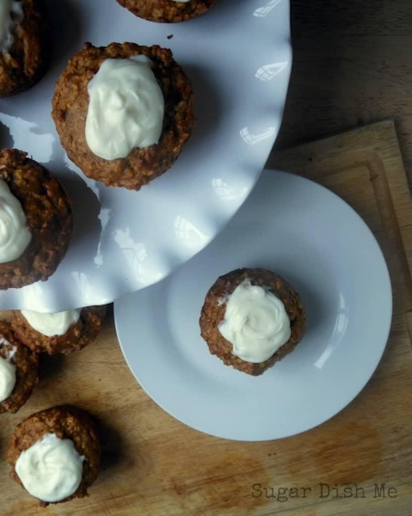 Pumpkin Oat and Cream Cheese Stuffed Muffins
