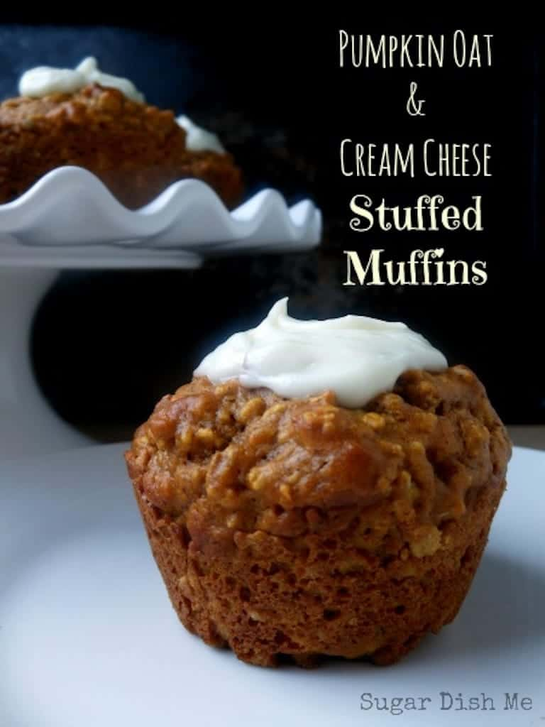 Pumpkin Oat and Cream Cheese Stuffed Muffins