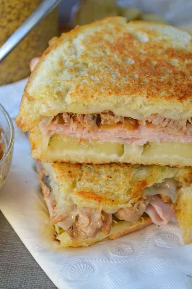 Crock Pot Cuban Pork Sandwiches