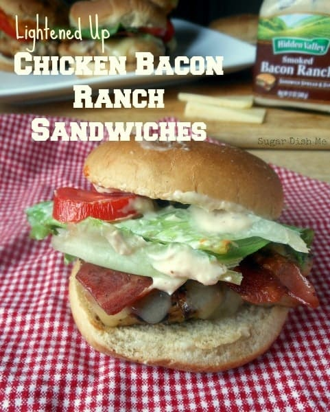 Lightened Up Chicken Bacon Ranch Sandwiches