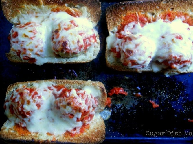 Cheesy Easy Meatball Subs