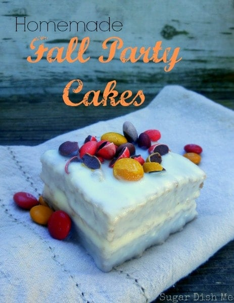 Homemade Fall Party Cakes