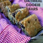Raisinet Oatmeal Cookie Bars