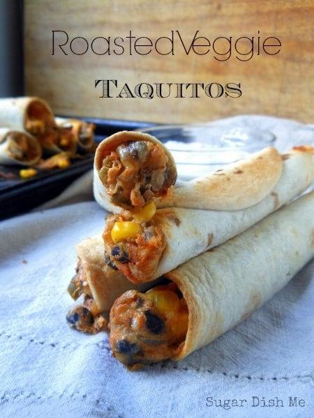 Roasted Veggie Taquitos