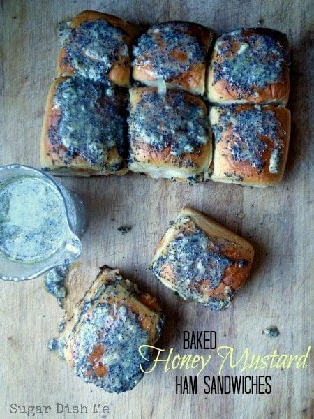 Baked Honey Mustard Ham Sandwiches