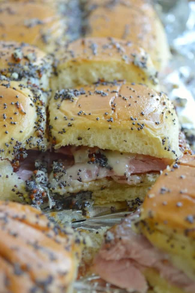 Baked Honey Mustard Ham Sandwich Recipe