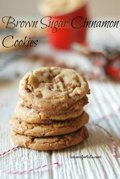 Brown Sugar Cinnamon Cookies