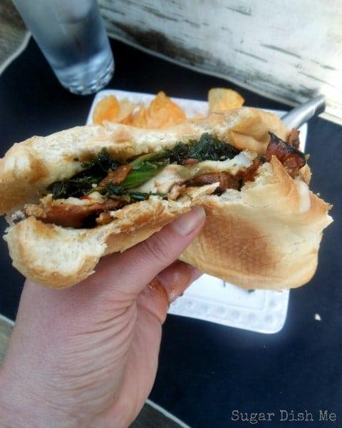 Chicken and Greens Sandwich