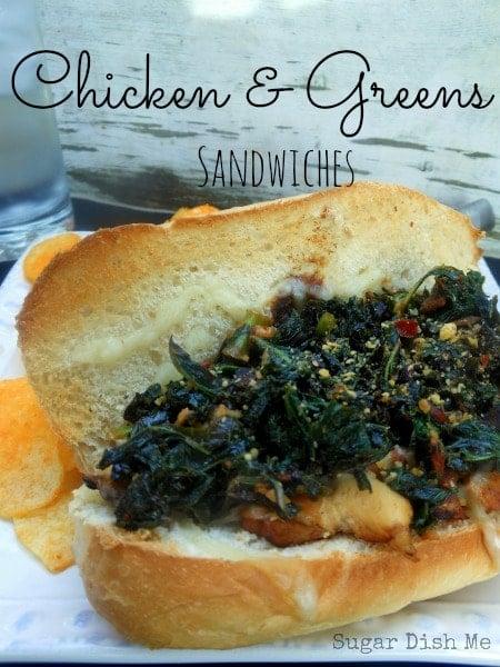 Chicken and Greens Sandwiches