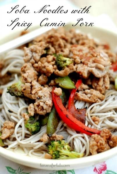 Soba Noodles with Spicy Cumin Pork