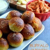 Buffalo Chicken Pretzel Bites