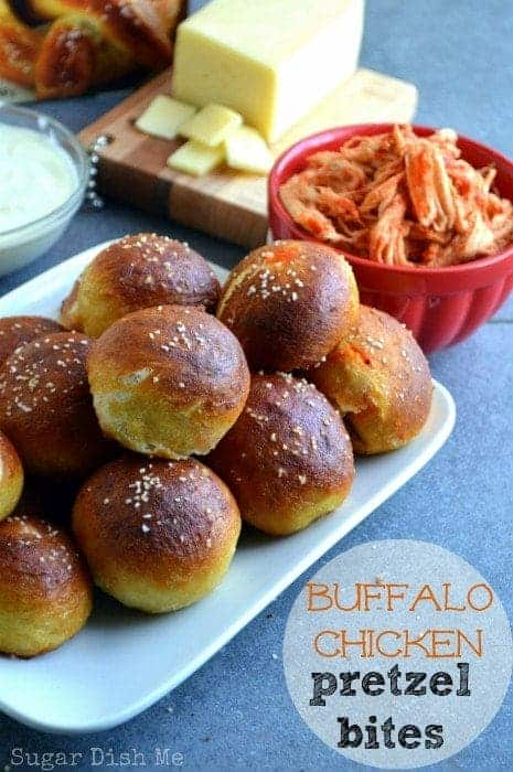 Buffalo Chicken Pretzel Bites