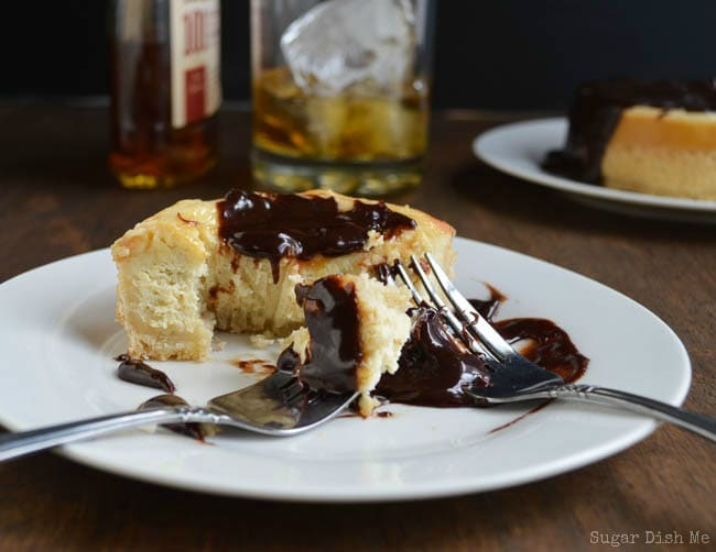 Bourbon Cheesecake with Boozy Chocolate For Two