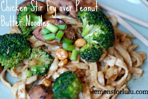 Chicken and Broccoli with Peanut Noodles