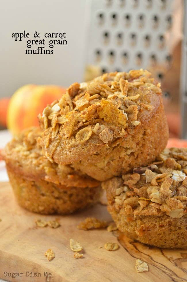 Apple and carrot Great Grain Muffins
