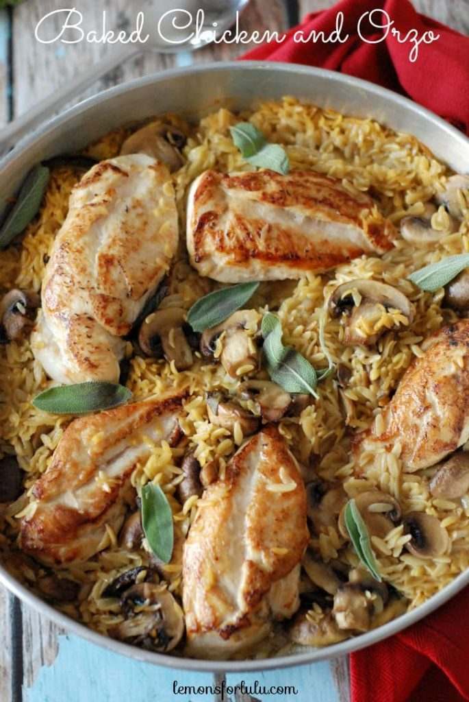 Baked Chicken and Orzo; Meal Plans Made Simple