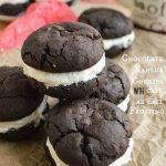 Chocolate Kahlua Cookies with Cafe au Lait Frosting