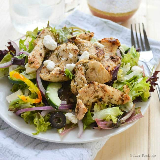 Greek Chicken Salad with Greek Dressing
