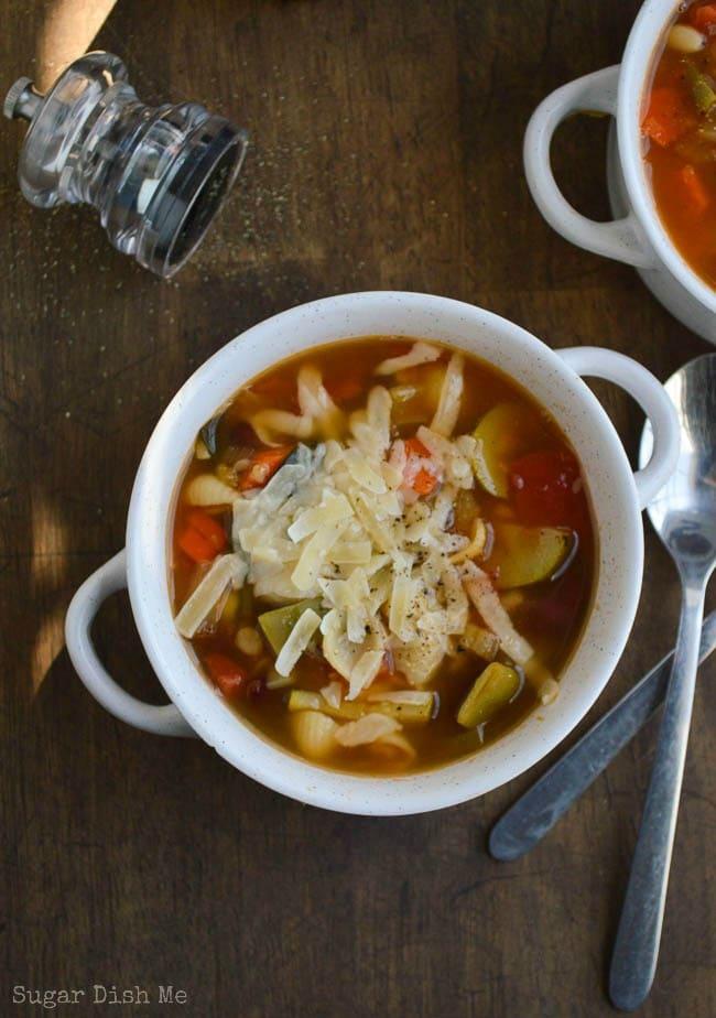 Easy Minestrone Soup Sugar Dish Me