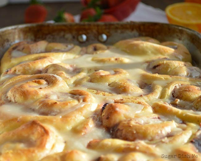Orange Strawberry Breakfast Rolls